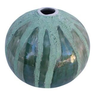 Rocio Madrigal Green Fat Lava Decorative Vase