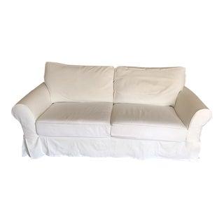 Pottery Barn Roll Arm Slipcover Sofa