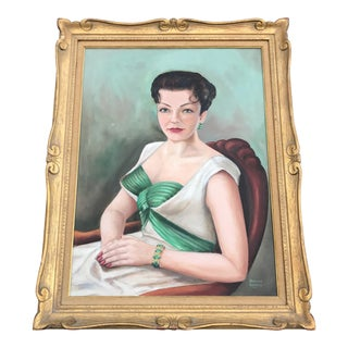 1950s Portrait of Rosalie Painting by Howard Keithly