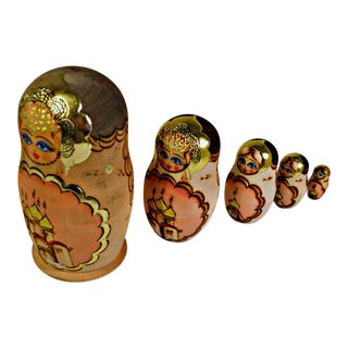 Russian Matryoshka Nesting Wooden Dolls- Set of 5