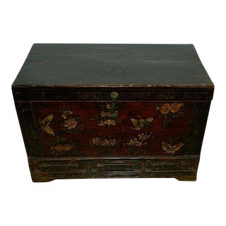 1900s Asian Decorated Trunk
