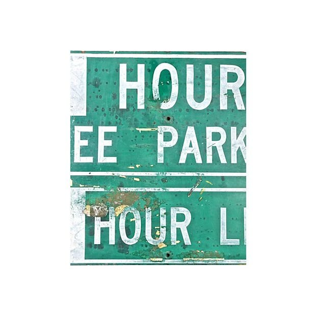 Image of Green & White Free Parking Sign