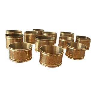 Multi-Shape Brass Napkin Rings - Set of 12