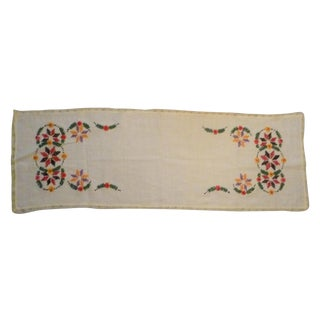 Vintage Europe German Polish Linen Table Runner