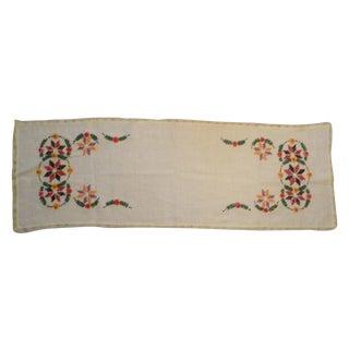 Vintage Polish Linen Table Runner