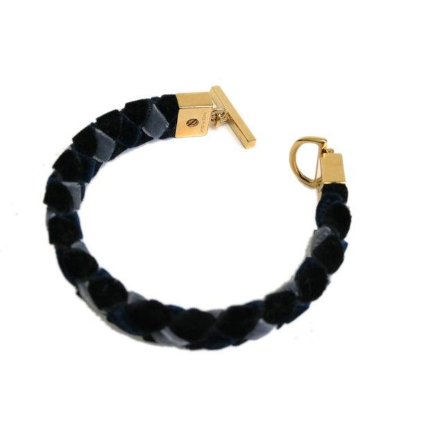 Image of Louis Vuitton Braided Velour Bracelet