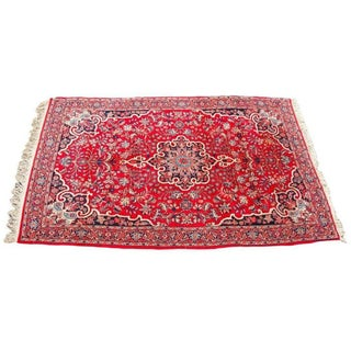 "Vintage Red Persian Bijar Rug - 3'9"" x 6'2"""