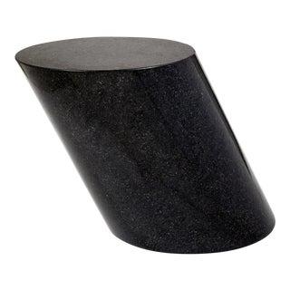 Lucia Mercer Black Onyx Granite 'Stump Table' model 701T, 1982