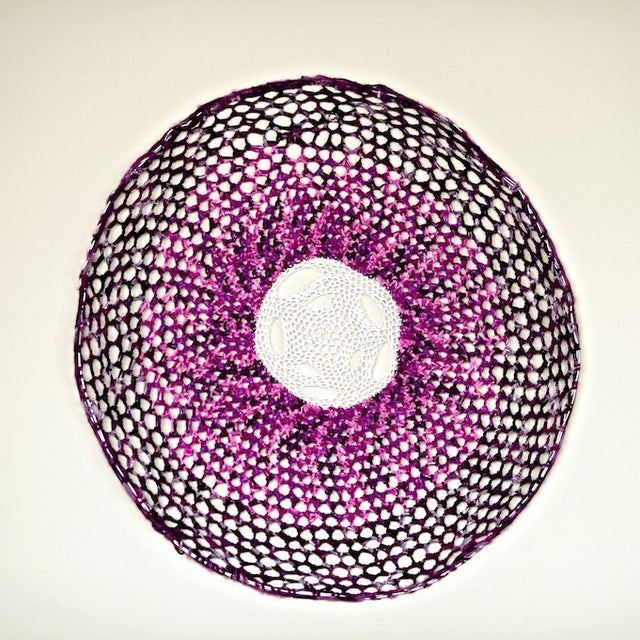 Image of Crochet Dream Catcher - Purple