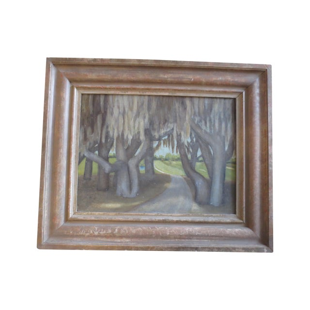 Image of 50s Modernist Landscape With Spanish Moss