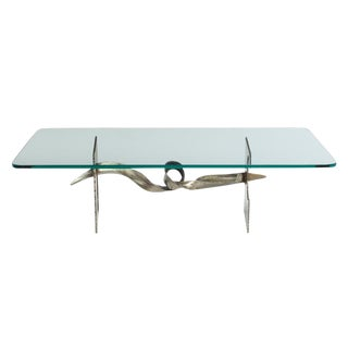 Silas Seandel Tortured Ribbon Steel Cocktail Table