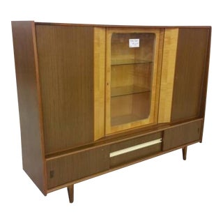 Mid-Century Modern German Shrunk China Hutch