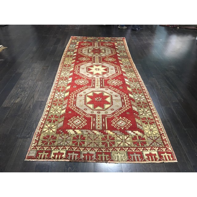 "Vintage Turkish Medallion Runner - 5'x11'6"" - Image 9 of 9"
