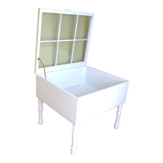 Deep White 6 Pane Display Table