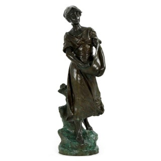"Edouard Drouot (French, 1859-1945) ""La Semeuse"" Bronze"