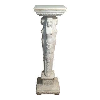 European Maiden Marble Pedestal
