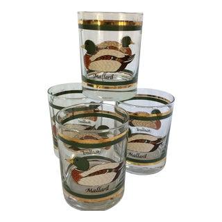 Vintage Mallard Duck Lo-ball Glasses - Set of 4