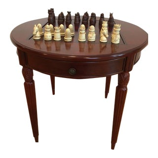 Classic Cherry Wood Game Table