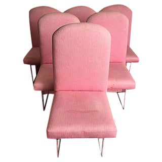 Pink & Lucite Dining Chairs - Set of 6