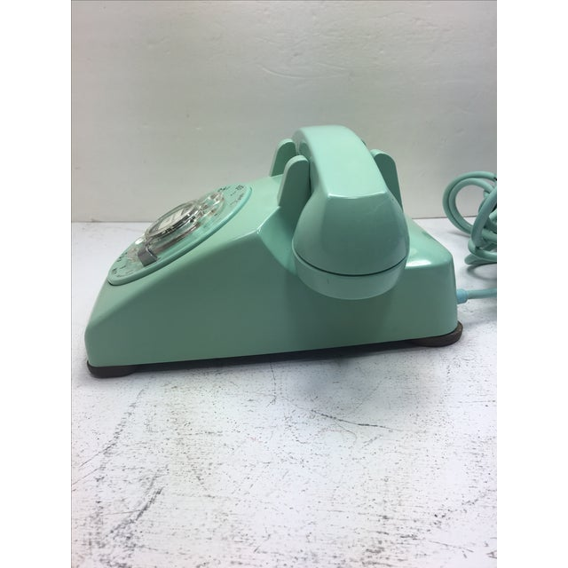 Turquoise 500 Rotary Dial Desk Phone - Image 3 of 11