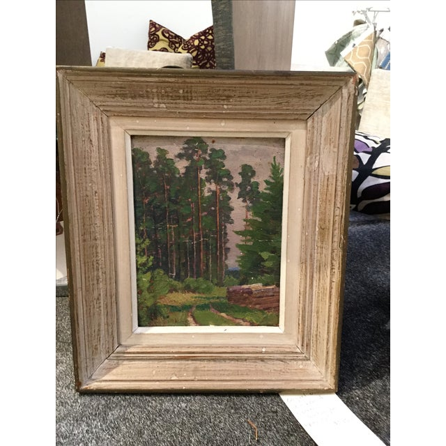 Vintage French Landscape Painting - Image 2 of 4