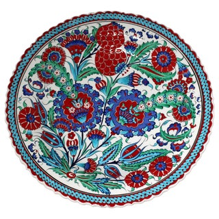 Multicolor Hand Made Turkish Plate
