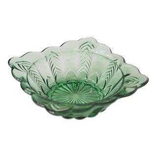 Mid-Century Green Glass Ashtray
