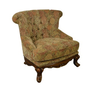 Schnadig Compositions French Louis XV Style Tufted Bergere Lounge Chair