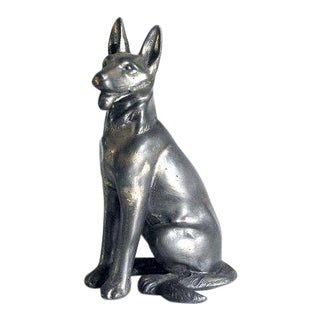 1940s Metal German Shepherd Bookend