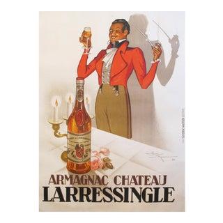 1938 Vintage Alcohol Poster, Armagnac Chateau Larressingle