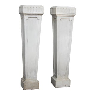 PAIR OF NEOCLASSICAL MARBLE PEDESTALS