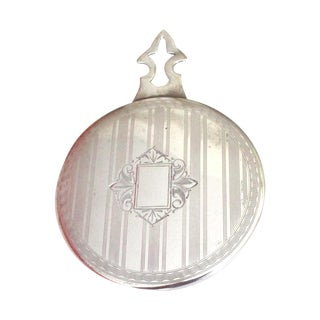 Antique Silver Purse Mirror