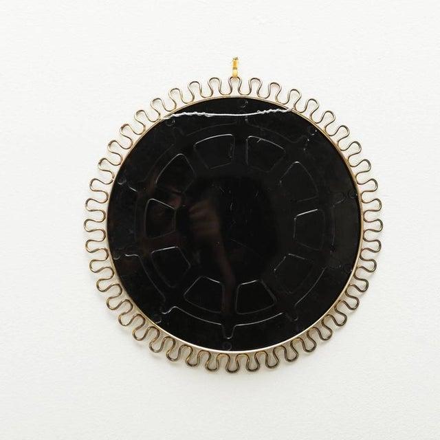 Sculptural Brass Loop Mirror by Josef Frank for Svenskt Tenn Sweden, 1950s - Image 3 of 5