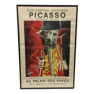 """Framed Vintage Pablo Picasso """"Au Palais Des Papas"""" Lithograph"""