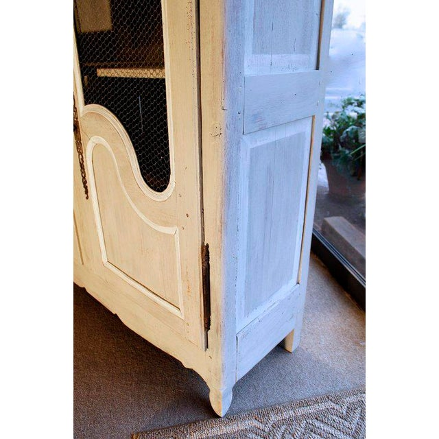 French Provincial Louis XV Style Grey Painted Armoire - Image 4 of 10