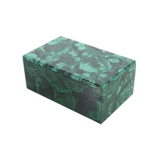Malachite Antique Lidded Box