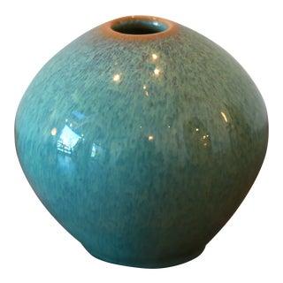 Teal Miniature Handmade Studio Pottery Ceramic Bud Vase