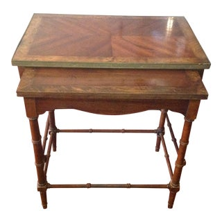 Vintage Bamboo Lane Nesting Tables - a Pair