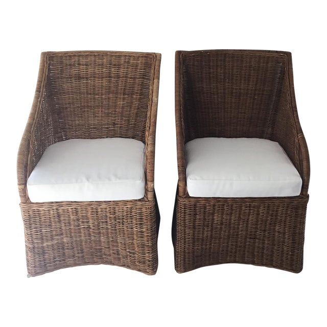 Williams-Sonoma Farallon Chairs - A Pair - Image 1 of 7
