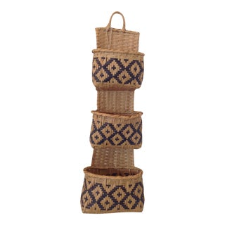 Choctaw Indian Cutlery Wall Basket