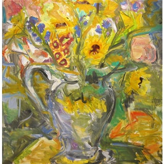 """Bouquet"" Abstract Oil Painting by Trixie Pitts"
