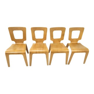 Thaden Jordan Bent Plywood Dining Chairs - Set of 4