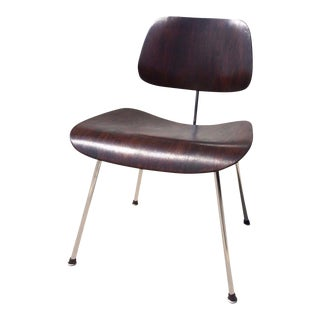 Eames for Herman Miller Chocolate Aniline DCM Dining Chair