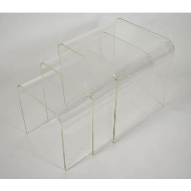Set of Three Lucite Nesting Tables - Image 3 of 7