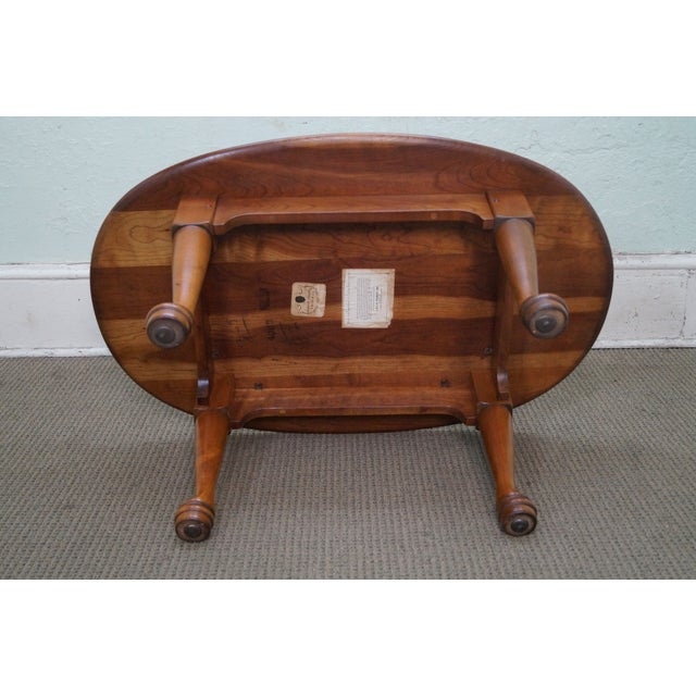Stickley Solid Cherry Queen Anne Coffee Table - Image 6 of 10