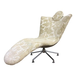 Mid-Century Swivel Chaise Lounge