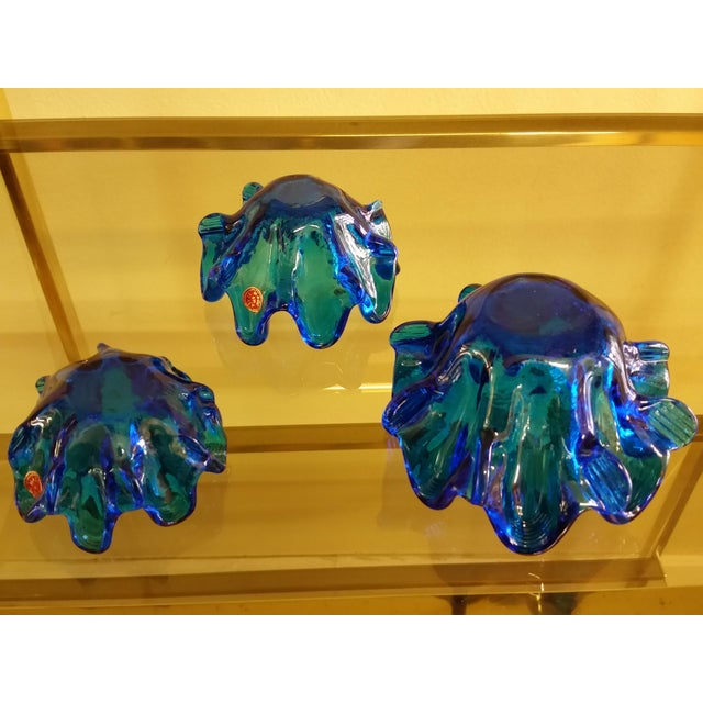 Empoli Italy Graduated Art Glass Bowls - Set of Three - Image 7 of 7