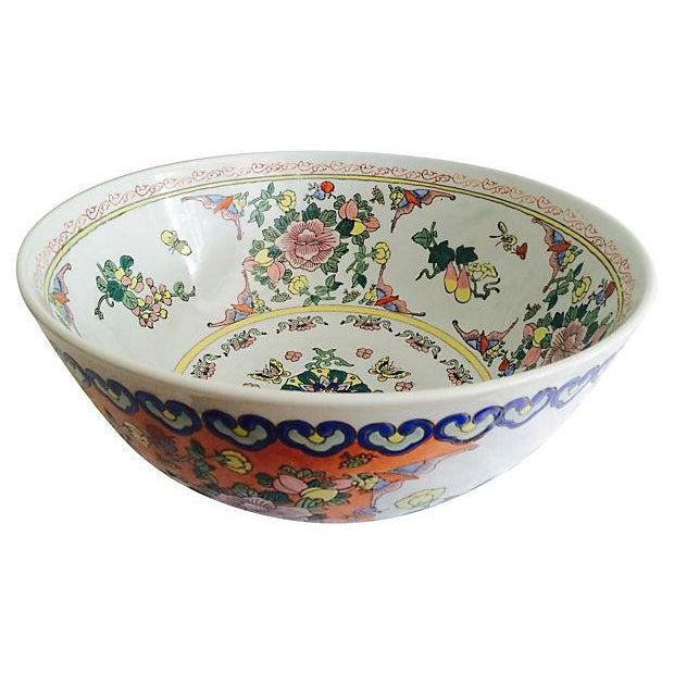 Chinese Botanical Bowl - Image 4 of 4