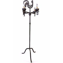 Antique French Weather Vane Floor Lamp