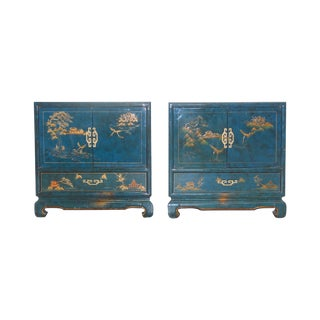 1950s Chinoiserie Nightstands - A Pair